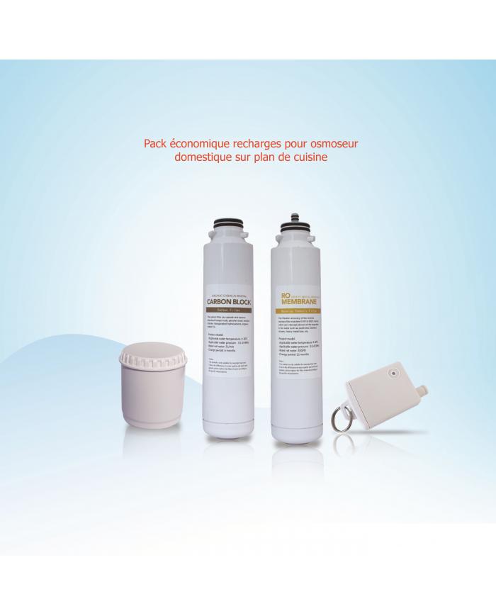 Pack recharges osmoseur domestique