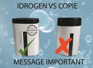 eau hydrogénée vs copie